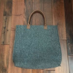 Large Charcoal Cloth Tote